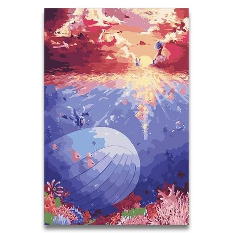 Whales Diy Paint By Numbers Kits PBN30006