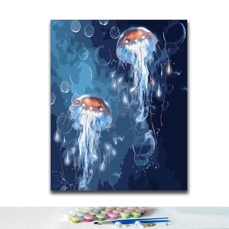 Jellyfish Diy Paint By Numbers Kits PBN30263