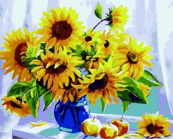 Sunflower Diy Paint By Numbers Kits ZXQ1489