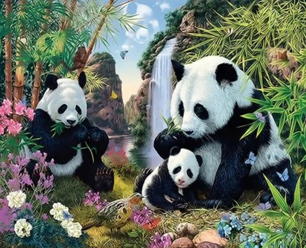 Panda Diy Paint By Numbers Kits Uk ZXQ3585 VM80020