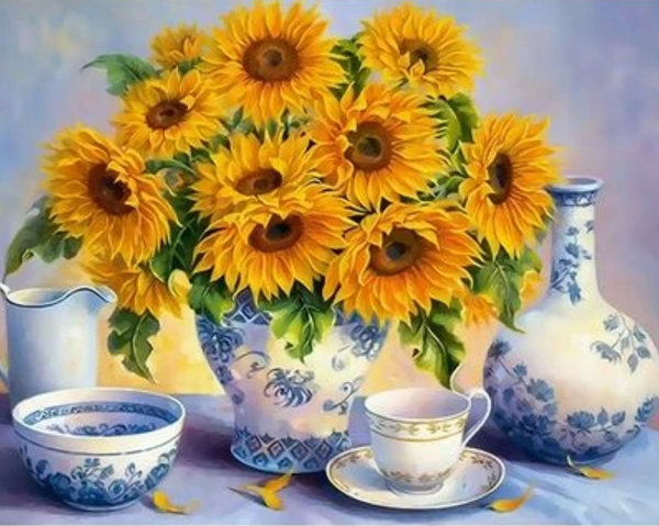 Sunflower  Diy Paint By Numbers Kits ZXQ2394