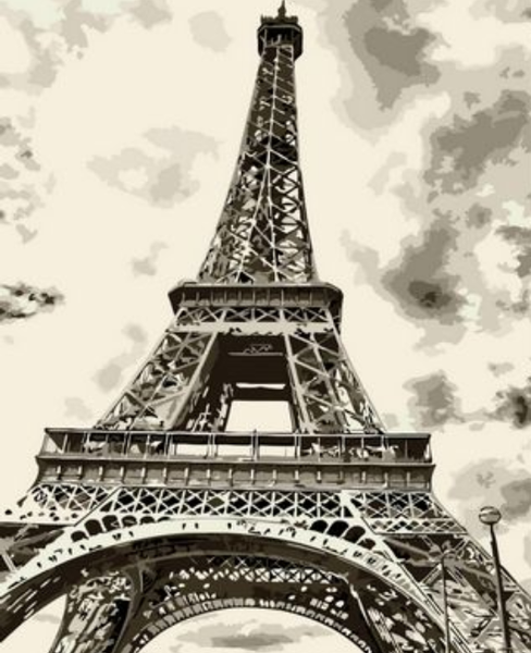 Landscape Eiffel Tower Diy Paint By Numbers Kits ZXQ736-10