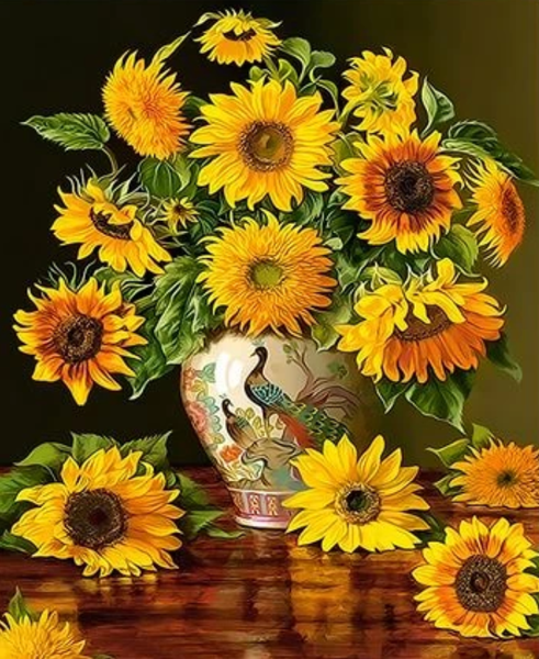Sunflower Diy Paint By Numbers Kits ZXQ3720