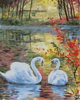 Animal Swan Diy Paint By Numbers Kits ZXQ2095