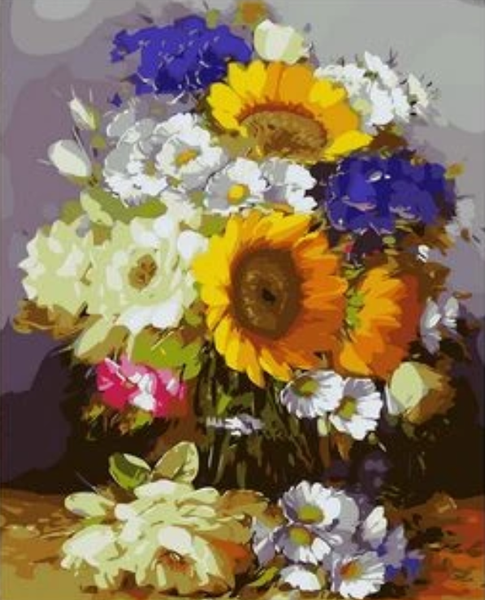 Sunflower  Diy Paint By Numbers Kits ZXQ1850