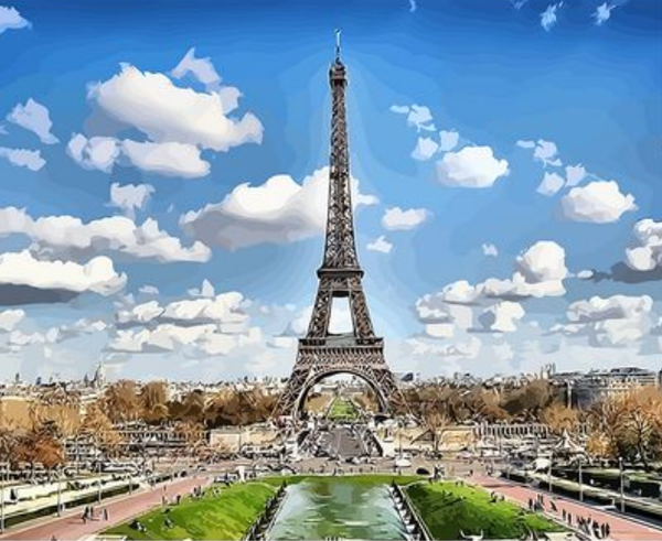 Landscape Eiffel Tower Diy Paint By Numbers Kits ZXAN1866