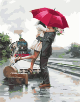 Lovers Under Umbrella Diy Paint By Numbers Kits ZXQ2339-19