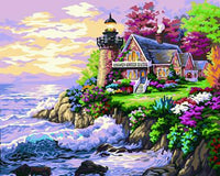 Lighthouse Diy Paint By Numbers Kits ZXB124