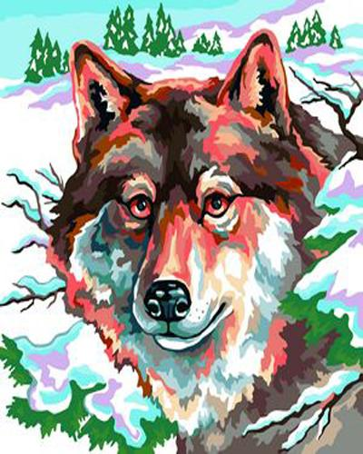 Animal Wolf Diy Paint By Numbers Kits ZXB235