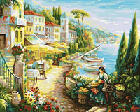 Landscape Seaside Town Diy Paint By Numbers Kits ZXB269