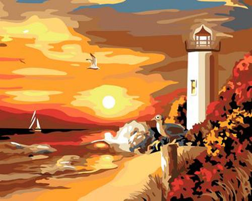Lighthouse Diy Paint By Numbers Kits ZXB359