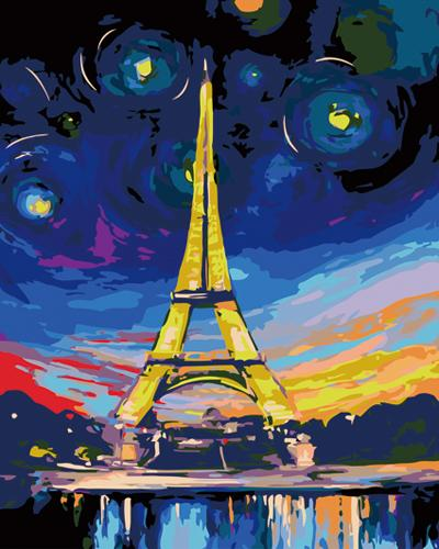 Landscape Eiffel Tower Diy Paint By Numbers Kits ZXB479