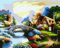 Landscape Village Paint By Numbers Kits ZXB521