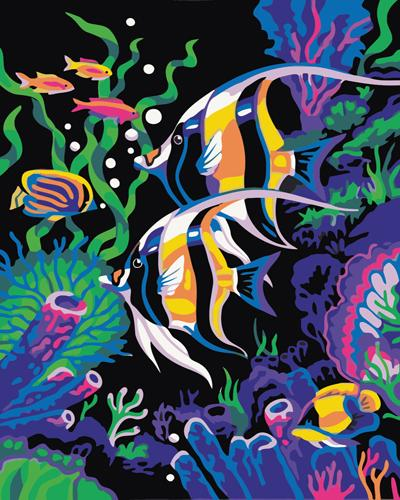 Fish Diy Paint By Numbers Kits ZXB524