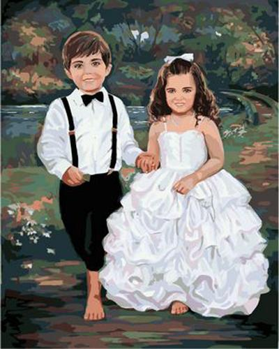 Portrait Boy And Girl Diy Paint By Numbers Kits ZXB67-30