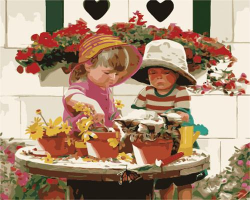 Portrait Boy And Girl Diy Paint By Numbers Kits ZXB904-24