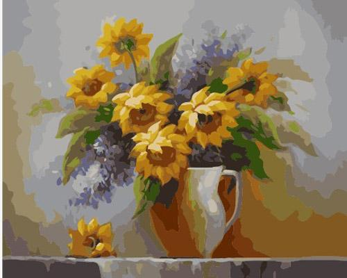 Sunflower Diy Paint By Numbers Kits ZXB930