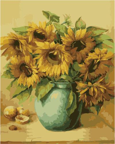Sunflower Diy Paint By Numbers Kits ZXB976