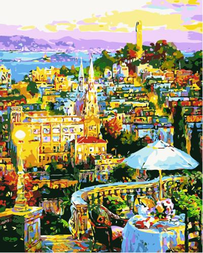 Landscape Town Diy Paint By Numbers Kits ZXB983-20
