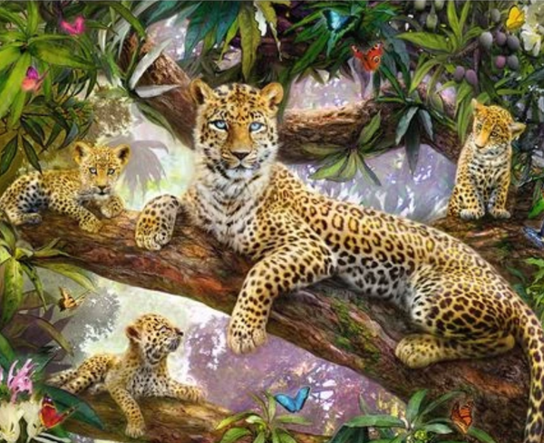 Animal Leopard Diy Paint By Numbers Kits ZXQ2894