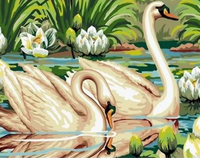 Animal Swan Diy Paint By Numbers Kits ZXQ2200