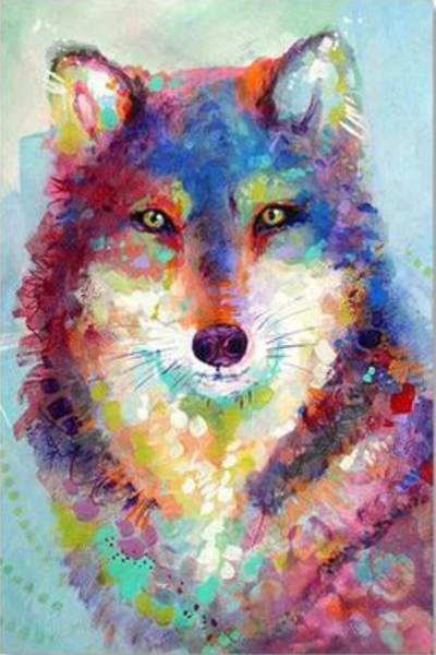 Wolf Diy Paint By Numbers Kits VM95007