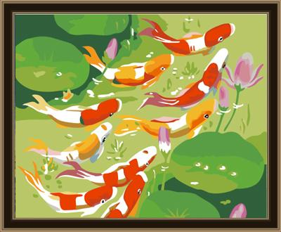 Fish Diy Paint By Numbers Kits ZXE066