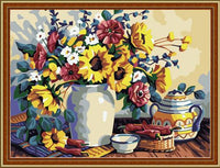 Sunflower Diy Paint By Numbers Kits ZXE095