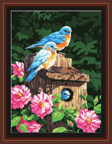 Flying Animal Bird Diy Paint By Numbers Kits ZXE108