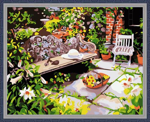 Landscape Garden Diy Paint By Numbers Kits ZXE113