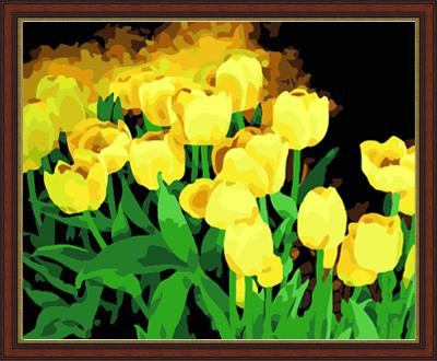 Tulips Diy Paint By Numbers Kits ZXE149