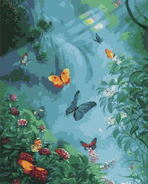 Flying Animal Butterfly Diy Paint By Numbers Kits ZXE340