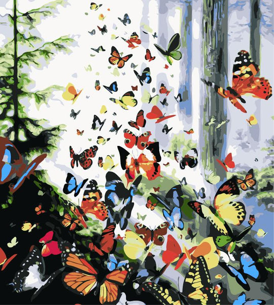Flying Animal Butterfly Diy Paint By Numbers Kits ZXE394