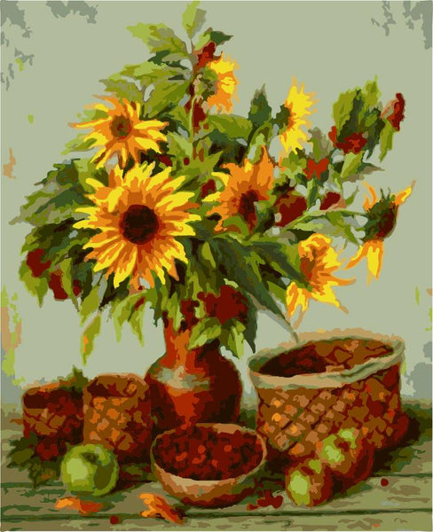 Sunflower Diy Paint By Numbers Kits ZXE426