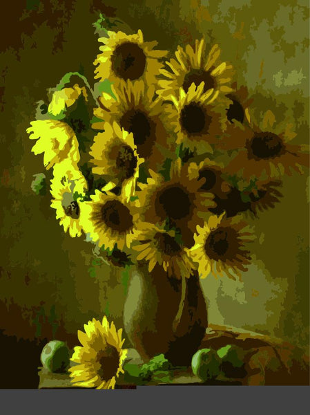 Sunflower Diy Paint By Numbers Kits ZXE432