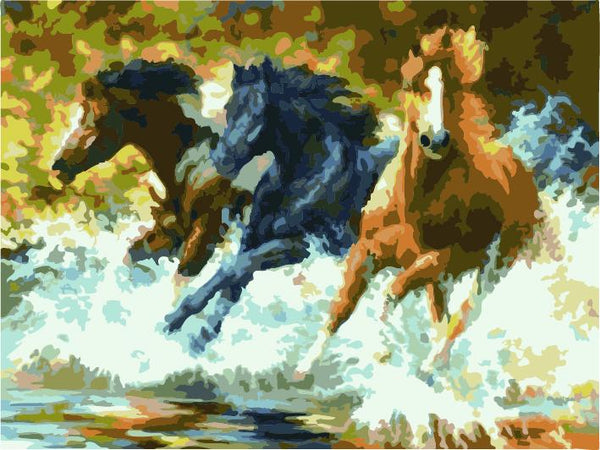 Animal Horse Diy Paint By Numbers Kits ZXE436