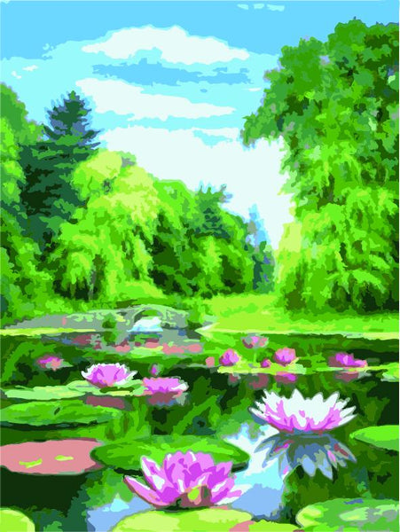 Landscape Forest Diy Paint By Numbers Kits ZXE438-23
