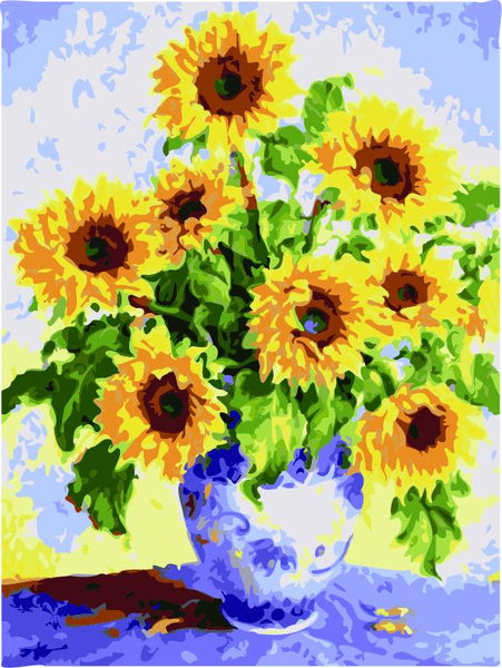 Sunflower Diy Paint By Numbers Kits ZXE467