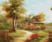 Landscape Cottage Diy Paint By Numbers Kits ZXE544