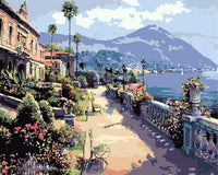 Landscape Seaside Town Diy Paint By Numbers Kits ZXE573