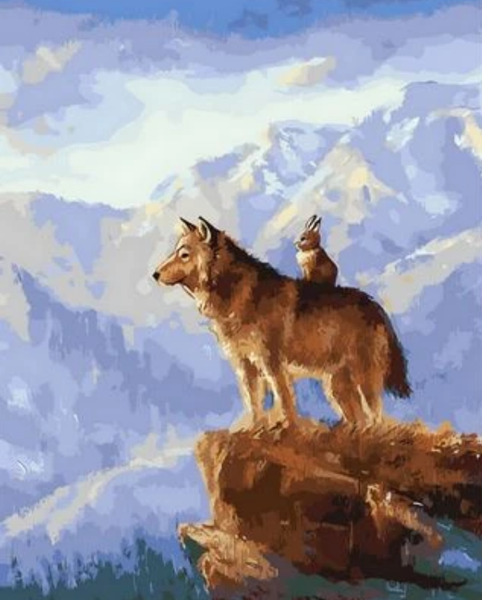 Animal Wolf Diy Paint By Numbers Kits ZXQ362