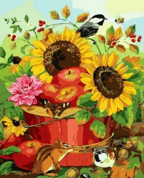 Sunflower Diy Paint By Numbers Kits ZXQ2464