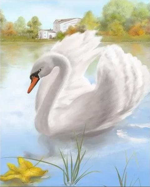 Animal Swan Diy Paint By Numbers Kits ZXQ2167