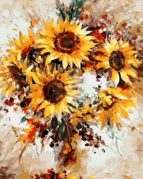 Sunflower  Diy Paint By Numbers Kits ZXQ1121
