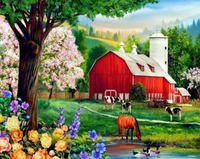 Village Scenery Diy Paint By Numbers Kits PBN94111