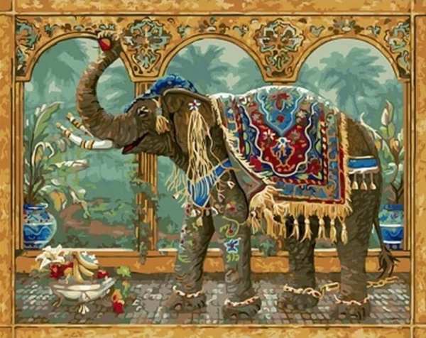 Elaephant Diy Paint By Numbers Kits PBN91461
