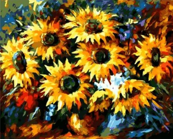 Sunflower Diy Paint By Numbers Kits ZXQ1744