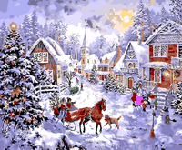 Christmas Diy Paint By Numbers Kits VM90597