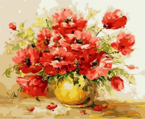 Poppy Flower Diy Paint By Numbers Kits ZXMS9344