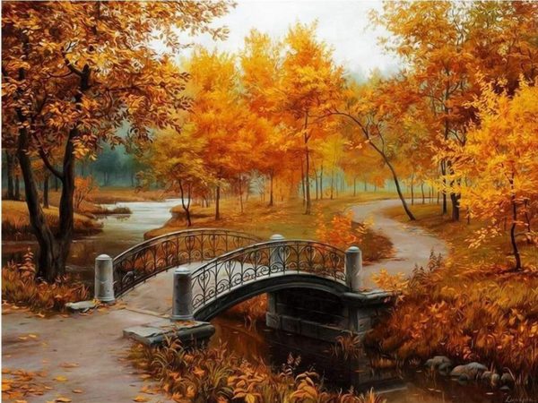 Nature Bridge Forest Diy Paint By Numbers Kits ZXZ-064